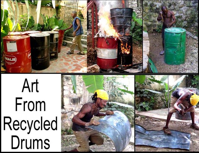 Haitian Art - Recycled steel drum metal art – Handcrafted - Tropic Decor