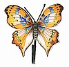 Painted Metal Butterfly Bathroom Wall Hook - Metal Towel Hook  8""