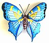 Painted Metal Butterfly Wall Hanging - Metal Art Butterfly Wall Decor- Outdoor Garden Art -  21""