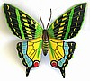Metal Butterfly Wall Hanging - Outdoor Garden Art - Hand Painted Metal - 48""