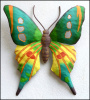 Butterfly Wall Hanging - Hand Painted Metal Art Outdoor Garden Wall Decor -  21""
