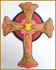 Metal Cross Wall Hangings - Hand Painted Cross Wall Art - Religious Wall Decor - 12""