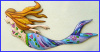 Mermaid Wall Hanging, Handcrafted Tropical Home Decor - Painted Metal Nautical Design, Beach Decor -