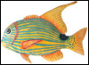 "Tropical Fish Metal Wall Decor - Hand Painted Design - Tropic Decor - 13"" x 18"""