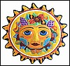 Handcrafted Sun Metal Wall Hanging, Metal Art, Painted Garden Decor, Pool Decor, Patio Decor, 24""