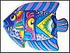 Painted Metal Tropical Fish Wall Hanging - Beach Home Decor - 18""
