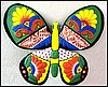 "Decorative Butterfly, Brightly Hand Painted Metal Butterfly, Tropical Wall Decor - 20"" x 24"""