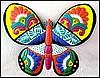 "Hand Painted Metal Butterfly Wall Decor - Tropical Garden Decor -18"" x 19"""