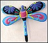 "Dragonfly Garden Art Wall Decor - Decorative Hand Painted Metal - 29"" x 34"""