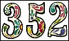 "Metal House Numbers - Handcrafted Outdoor Decor - Painted Metal Address Numbers - 7 1/2""  High"