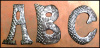 Decorative Metal Letter, Outdoor Home Decor, Handcrafted from Recycled Steel Drum in Haiti - 11 1/2""