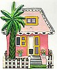 Caribbean Cottage Light Switch Cover - Hand Painted Metal Tropical Design