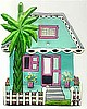 Caribbean Cottage Light Switch Cover - Hand Painted Metal Switchplate