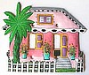 Caribbean Cottage Light Switch Cover - Hand Painted Metal Tropical Decor