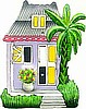 Tin Roof Caribbean House Switchplate Cover - Hand Painted Metal Light Switch