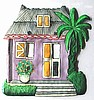 Caribbean House Light Switchplate Cover - Hand Painted Metal Switch Plate