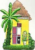 Caribbean House Light Switch Plate Covers - Painted Metal Switch Plate