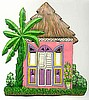 Caribbean House Wall Switch Plate Cover - Painted Metal - Switchplate Covers