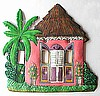 Caribbean House Switch Plate Cover - Painted MetalLight Switchplate Covers