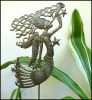 "Metal Angel Plant Stake - Outdoor Metal Garden Decor - Haitian Recycled Steel Drum Art - 11"" x 12"""