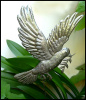 "Metal Dove Plant Stake, Garden Plant Sticks, Garden Art, Outdoor Garden Decor - 13"" x 16"""