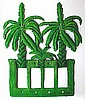 Light Switch Cover - Banana Tree Rocker Painted Metal Switchplate Cover