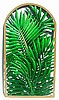 "Palm Wall Panel - Hand Painted Metal Tropical Home Decor - 20"" x 36"""