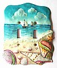 Seashore Switchplate Cover - Shell Home Decor  - Decorative Switch Plate