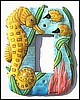 Rocker Switchplate Cover - Nautical Seahorse Painted Metal Switch Plate Design