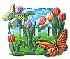 Butterfly Switchplate Cover - Hand Painted Metal - Tropical Light Switch Cover