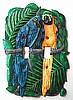 Painted Metal Parrots Switchplate Cover- Tropical Design Switch Plate Covers