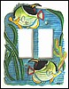 Hand Painted Metal Tropical Fish Rocker Switchplate Cover - Beach Decor - 2 Holes