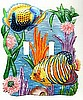 Double Switchplate Cover - Painted Metal Tropical Fish Design -Light Switch
