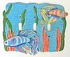 Light Switch Cover - Painted Metal Tropical Betta Fish - Siamese Fighting Fish