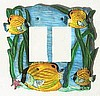 Tropical Fish Switchplate Cover - Tropical Home Decor - Light Switch Cover