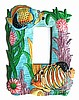 Switch Plate - Tropical Fish Painted Metal Rocker Switchplate Cover - Single