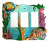 Painted Metal Tropical Fish Switch Plate Cover -Tropical Home Decorating- Switchplate