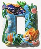 Tropical Fish Rocker Painted Metal Switchplate Cover - Light Switch Cover