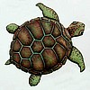 "Brown Loggerhead Turtle Wall Decor in Hand Painted Metal - Nautical Design 18"" x 24"""
